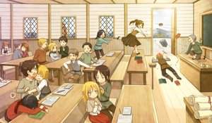 Rating: Safe Score: 155 Tags: annie_leonhardt armin_arlert bertholt_fubar black_hair blonde_hair blush book braids brown_hair christa_renz conny_springer eren_jaeger flat_chest franz_(shingeki_no_kyojin) hannah_(shingeki_no_kyojin) jean_kirchstein keith_shadis long_hair male marco_bodt mikasa_ackerman mina_carolina moxue_qianxi paper purple_eyes reiner_braun sasha_browse shingeki_no_kyojin short_hair skirt ymir_(shingeki_no_kyojin) User: FormX