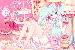 Rating: Safe Score: 65 Tags: cake candy doll food fruit hatsune_miku heart kajiami lollipop lots_of_laugh_(vocaloid) strawberry vocaloid User: anaraquelk2