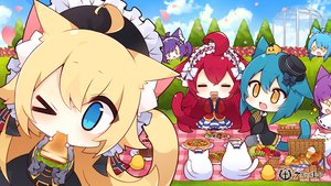 Rating: Safe Score: 25 Tags: animal animal_ears antenna_(azur_lane) apple aqua_eyes aqua_hair azur_lane bird bishamaru_(azur_lane) blonde_hair cake cat catgirl chibi clouds drink fang flowers food fruit goth-loli group hat headdress japanese_clothes justice_(azur_lane) logo lolita_fashion long_hair manjuu_(azur_lane) muuran oscar_(azur_lane) petals pizza purple_hair red_hair rose short_hair skirt sky steel_(azur_lane) tail takemaru_(azur_lane) wink yellow_eyes User: otaku_emmy
