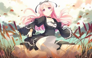 Rating: Safe Score: 200 Tags: autumn dress garden_(galge) h2so4 himemiya_ruri leaves pink_hair User: Wiresetc
