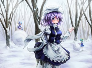 Rating: Safe Score: 57 Tags: cirno daiyousei fairy letty_whiterock purple_eyes snow t.m_(aqua6233) touhou tree User: C4R10Z123GT