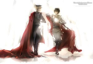 Rating: Safe Score: 28 Tags: axis_powers_hetalia japan_(hetalia) olong_tea_(mame) sword uniform united_kingdom_(hetalia) weapon User: FormX