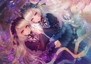 Rating: Safe Score: 61 Tags: 2girls dress goth-loli hortense lolita_fashion megumi_(piyo7piyo9) sound_horizon twins violette User: BattlequeenYume