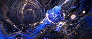 Rating: Safe Score: 80 Tags: blue_hair dress kvpk5428 long_hair original sword weapon User: BattlequeenYume