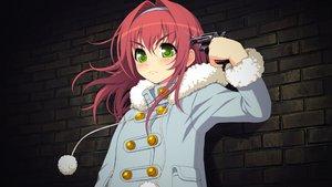 Rating: Safe Score: 61 Tags: axanael fujimi_ena game_cg gun hoodie weapon User: Exilator