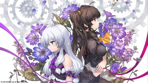 Rating: Safe Score: 52 Tags: 2girls flowers kyjsogom lily_bloomerchen loli soul_worker stella_unibell User: kyxor