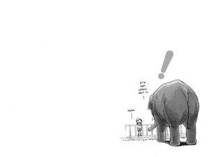 Rating: Safe Score: 9 Tags: animal azuma_kiyohiko elephant koiwai_yotsuba white yotsubato! User: Oyashiro-sama