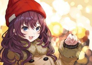 Rating: Safe Score: 86 Tags: blue_eyes cat_smile hat ichinose_shiki idolmaster idolmaster_cinderella_girls long_hair purple_hair yuu_(higashi_no_penguin) User: RyuZU