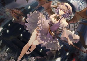 Rating: Safe Score: 169 Tags: dress elise_(piclic) remilia_scarlet spear touhou vampire weapon wings User: gnarf1975