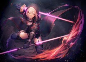 Rating: Safe Score: 141 Tags: armor blonde_hair elbow_gloves fate/grand_order fate_(series) garter_belt gloves hoodie lightsaber mysterious_heroine_x mysterious_heroine_x_alter nagu short_hair stockings sword thighhighs weapon yellow_eyes User: RyuZU