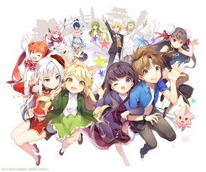 Rating: Safe Score: 66 Tags: aqua_hair black_hair blonde_hair brown_eyes brown_hair cat_smile chinese_clothes chinese_dress fang foxgirl gilse gray_eyes green_eyes green_hair group horns japanese_clothes kneehighs long_hair male mons_panic necklace orange_hair pink_hair red_eyes short_hair skirt suit thighhighs tie twintails white_hair wings wink yellow_eyes User: otaku_emmy
