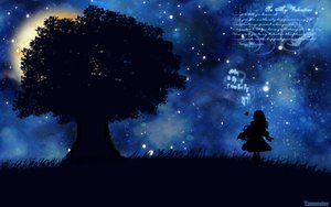 Rating: Safe Score: 20 Tags: grass night silhouette stars tagme_(artist) tree User: Oyashiro-sama