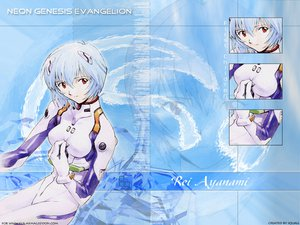 Rating: Safe Score: 6 Tags: ayanami_rei blue_hair bodysuit gainax neon_genesis_evangelion red_eyes skintight User: Oyashiro-sama