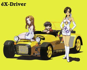 Rating: Safe Score: 17 Tags: blush boots breasts brown_eyes brown_hair car cleavage ex-driver feathers goggles green_eyes long_hair short_hair tagme uniform yellow User: Oyashiro-sama
