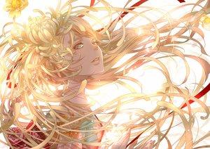 Rating: Safe Score: 82 Tags: blonde_hair brown_eyes japanese_clothes kimono long_hair nanahara_shie original ribbons User: Flandre93