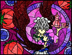 Rating: Safe Score: 14 Tags: 2girls izayoi_sakuya maid remilia_scarlet touhou vampire User: Ryukenji