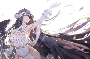 Rating: Safe Score: 137 Tags: albedo breasts calder cleavage demon horns long_hair overlord wings User: FormX