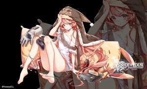 Rating: Safe Score: 95 Tags: barefoot clouble drink evante_(red:_pride_of_eden) logo long_hair red:_pride_of_eden twintails zoom_layer User: BattlequeenYume