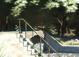 Rating: Safe Score: 33 Tags: nobody original sakais3211 scenic shade stairs tree water waterfall User: RyuZU