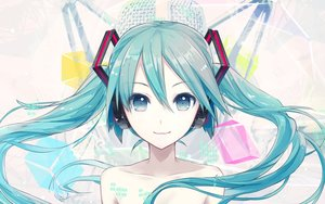 Rating: Safe Score: 153 Tags: hatsune_miku headphones ikushima long_hair twintails vocaloid User: Flandre93