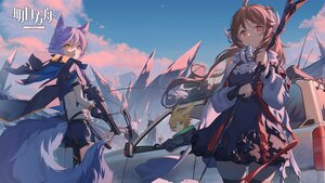 Rating: Safe Score: 39 Tags: animal_ears arknights black_hair blonde_hair brown_hair bunny_ears clouds earthspirit_(arknights) eyjafjalla_(arknights) gloves green_eyes group gun horns leonhardt_(arknights) logo long_hair male mask nian provence_(arknights) purple_hair red_eyes short_hair sky tail thighhighs tsukinogi_(arknights) weapon white yellow_eyes zettai_ryouiki User: Nepcoheart