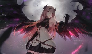 Rating: Safe Score: 148 Tags: aoi_ogata blonde_hair dark_angel_olivia dress elbow_gloves gloves granblue_fantasy horns long_hair red_eyes tattoo thighhighs watermark wings User: RyuZU