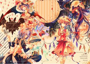 Rating: Safe Score: 97 Tags: apron blonde_hair blue_hair bow fang flandre_scarlet flowers food fruit group hat izayoi_sakuya kirero long_hair maid moon patchouli_knowledge ponytail purple_hair red_eyes remilia_scarlet ribbons rose short_hair strawberry touhou vampire wings yellow_eyes User: ガラス