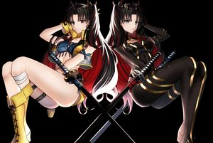 Rating: Safe Score: 41 Tags: black black_eyes black_hair bodysuit boots fate/grand_order fate_(series) faton ishtar_(fate/grand_order) katana long_hair red_eyes sword weapon User: RyuZU