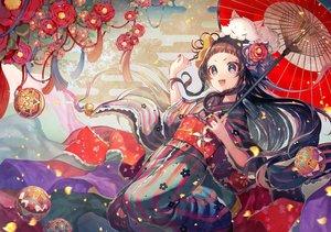 Rating: Safe Score: 58 Tags: animal ball brown_eyes brown_hair cat flowers headdress japanese_clothes kimono long_hair marimari momoshiki_tsubaki ribbons show_by_rock!! umbrella User: FormX