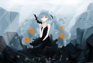 Rating: Safe Score: 60 Tags: animal blue_eyes blue_hair bottle_miku deep-sea_girl_(vocaloid) fish hatsune_miku school_uniform twintails underwater vocaloid water User: ANIMEHTF