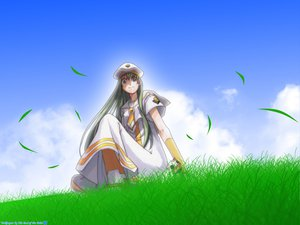 Rating: Safe Score: 3 Tags: alice_carroll aria blue_eyes clouds grass green_hair long_hair maa User: 秀悟