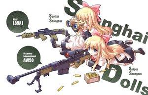 Rating: Safe Score: 69 Tags: blonde_hair blue_eyes bow doll gun shanghai_doll touhou weapon User: korokun
