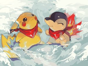 Rating: Safe Score: 33 Tags: cyndaquil hideko_(l33l3b) nobody pikachu pokemon snow User: otaku_emmy