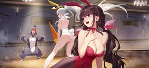 Rating: Safe Score: 105 Tags: animal_ears ass braids brown_hair bunny_ears bunnygirl daye_bie_qia_lian long_hair male pantyhose pink_eyes ponytail red_eyes romantic_saga_of_beauty_&_devil tail twintails white_hair User: BattlequeenYume