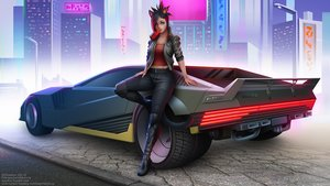 Rating: Safe Score: 32 Tags: animal_ears black_hair braids building car catgirl city crossover cyberpunk_2077 final_fantasy final_fantasy_xiv green_eyes maxim_domikov miqo'te navel short_hair tail watermark User: SciFi