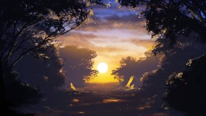 Rating: Safe Score: 94 Tags: clouds grass landscape nobody original sasakura_momizi scenic sky sunset tree User: RyuZU