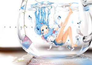 Rating: Safe Score: 270 Tags: anmi blue_eyes blue_hair original underwater water User: HawthorneKitty