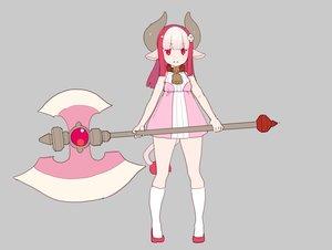 Rating: Safe Score: 23 Tags: animal_ears bell collar cowgirl dress horns kneehighs loli long_hair nagisa_kurousagi original pink_hair polychromatic red_eyes tail weapon User: otaku_emmy