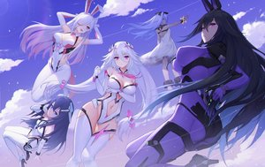 Rating: Safe Score: 145 Tags: animal_ears ass bodysuit breasts bunny_ears cleavage emile_(xipuria) group long_hair oo92248226 reina_(xipuria) short_hair sky_diver_xipuria tagme_(character) User: Fepple