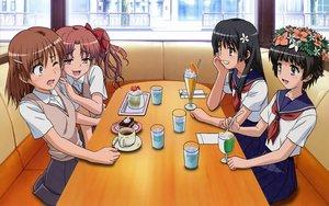 Rating: Safe Score: 43 Tags: black_hair blue_eyes blush bow brown_eyes brown_hair cake drink flowers food headdress ice_cream ishikura_keiichi long_hair misaka_mikoto pink_eyes saten_ruiko seifuku shirai_kuroko short_hair skirt to_aru_kagaku_no_railgun to_aru_majutsu_no_index uiharu_kazari wink User: pantu