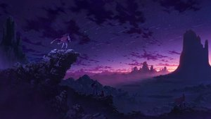 Rating: Safe Score: 57 Tags: boots cape clouds dengaku group landscape night original scenic sky stars sunset User: RyuZU