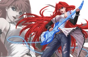 Rating: Safe Score: 93 Tags: aozaki_aoko blue_eyes feitie guitar instrument long_hair magic mahou_tsukai_no_yoru melty_blood red_hair shingetsutan_tsukihime signed torn_clothes User: BoobMaster