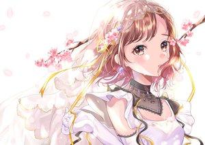 Rating: Safe Score: 70 Tags: brown_eyes brown_hair cherry_blossoms close flowers headdress original ribbons short_hair totomachokori User: BattlequeenYume