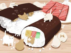 Rating: Safe Score: 16 Tags: animal cat chai_(artist) food nobody original signed User: otaku_emmy