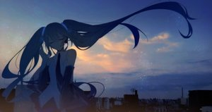 Rating: Safe Score: 71 Tags: hatsune_miku long_hair night tagme_(artist) twintails vocaloid User: luckyluna