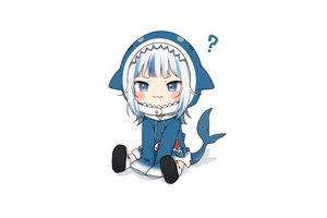 Rating: Safe Score: 50 Tags: amashiro_natsuki blue_eyes boots cat_smile chibi gawr_gura hololive hoodie short_hair tail white white_hair User: otaku_emmy