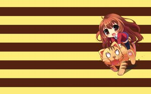 Rating: Safe Score: 21 Tags: aisaka_taiga animal brown_hair chibi long_hair palmtop_tiger red_eyes school_uniform tiger toradora youta User: lozzaaa
