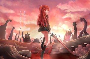 Rating: Safe Score: 83 Tags: blood boots chtholly_nota_seniorious jcj0125 long_hair red_hair shuumatsu_nani_shitemasu_ka? skirt sword translation_request uniform weapon User: BattlequeenYume