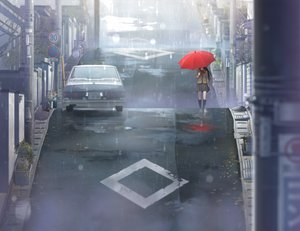 Rating: Safe Score: 222 Tags: aozaki_aoko car city game_cg kneehighs koyama_hirokazu long_hair mahou_tsukai_no_yoru polychromatic rain scenic seifuku umbrella water User: Wiresetc