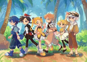 Rating: Safe Score: 16 Tags: anthropomorphism black_hair blonde_hair blue_eyes blue_hair boots braids brown_eyes cubone cutiefly fang forest grass gray_hair hat hoodie loli long_hair lycanroc male moro_sorano pantyhose pichu pikipek pokemon ponytail popplio short_hair shorts socks sunglasses tree twintails wristwear yellow_eyes User: otaku_emmy
